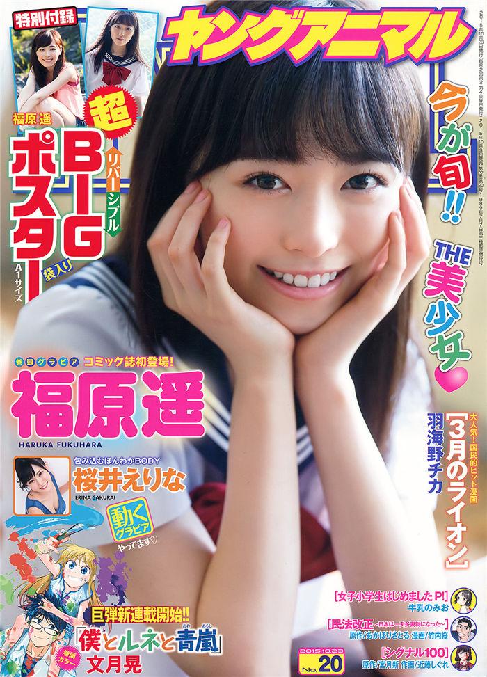 [Young Animal] 2015 No.20 (福原遥 樱井绘里奈) 日系杂志-第1张