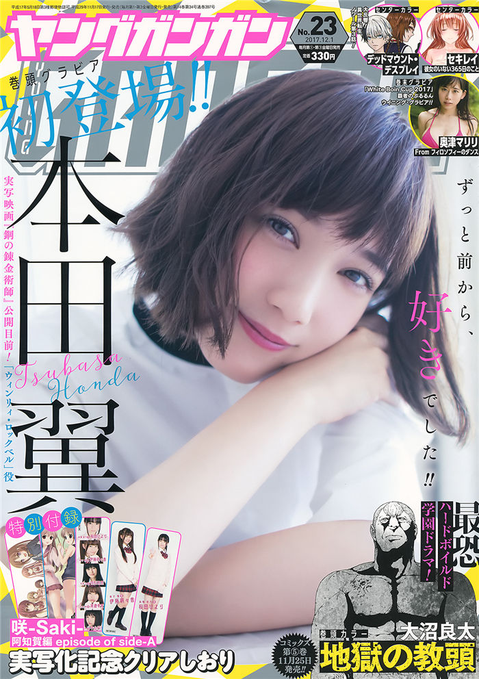 [Young Gangan] 2017 No.23 (本田翼 奥津真李里) 日系杂志-第1张